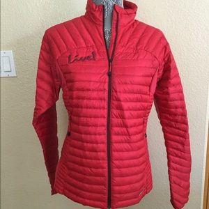 """NEW! Eddie Bauer Down Red Puffer Jacket """"Live!"""""""